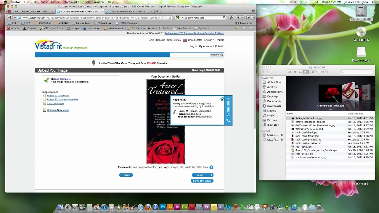 uploading a custom design to vistaprint youtube