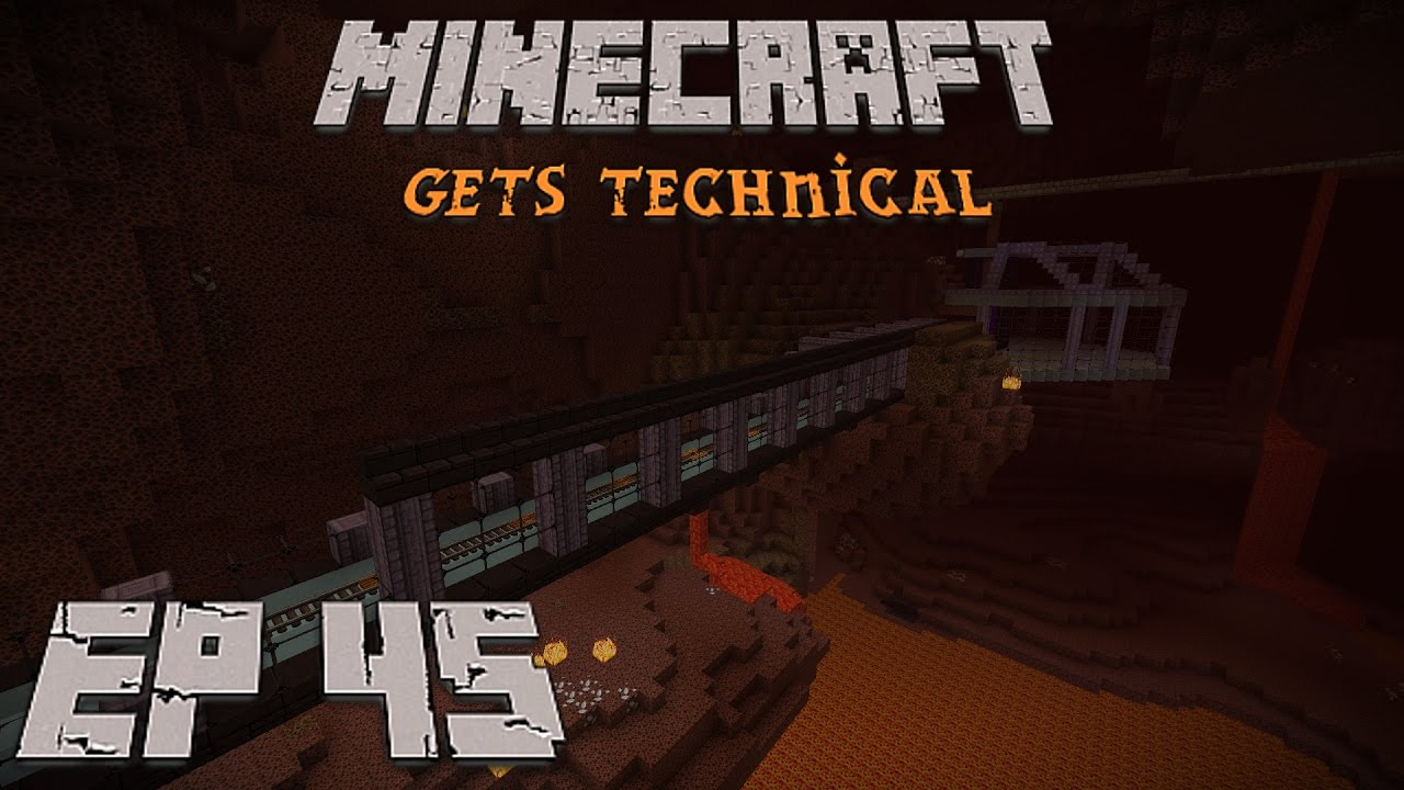 Nether Ice Tunnel Minecraft Gets Technical Ep 45 Youtube It used to be possible to get water into the nether with this, but as of minecraft 1.3.1, ice blocks in the nether simply disappear when they're broken (or when they melt. nether ice tunnel minecraft gets technical ep 45