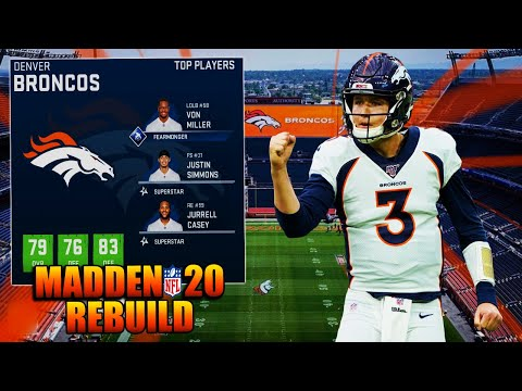 Rebuilding The Denver Broncos | This WR Core Is DISGUSTING💰💰 | Madden 20 Franchise Realistic Rebuild