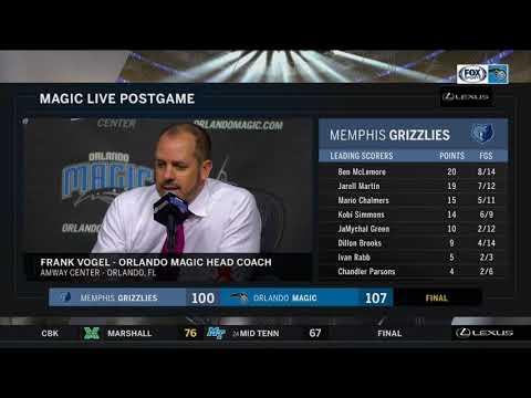 Frank Vogel -- Orlando Magic vs. Memphis Grizzlies 03/03/18