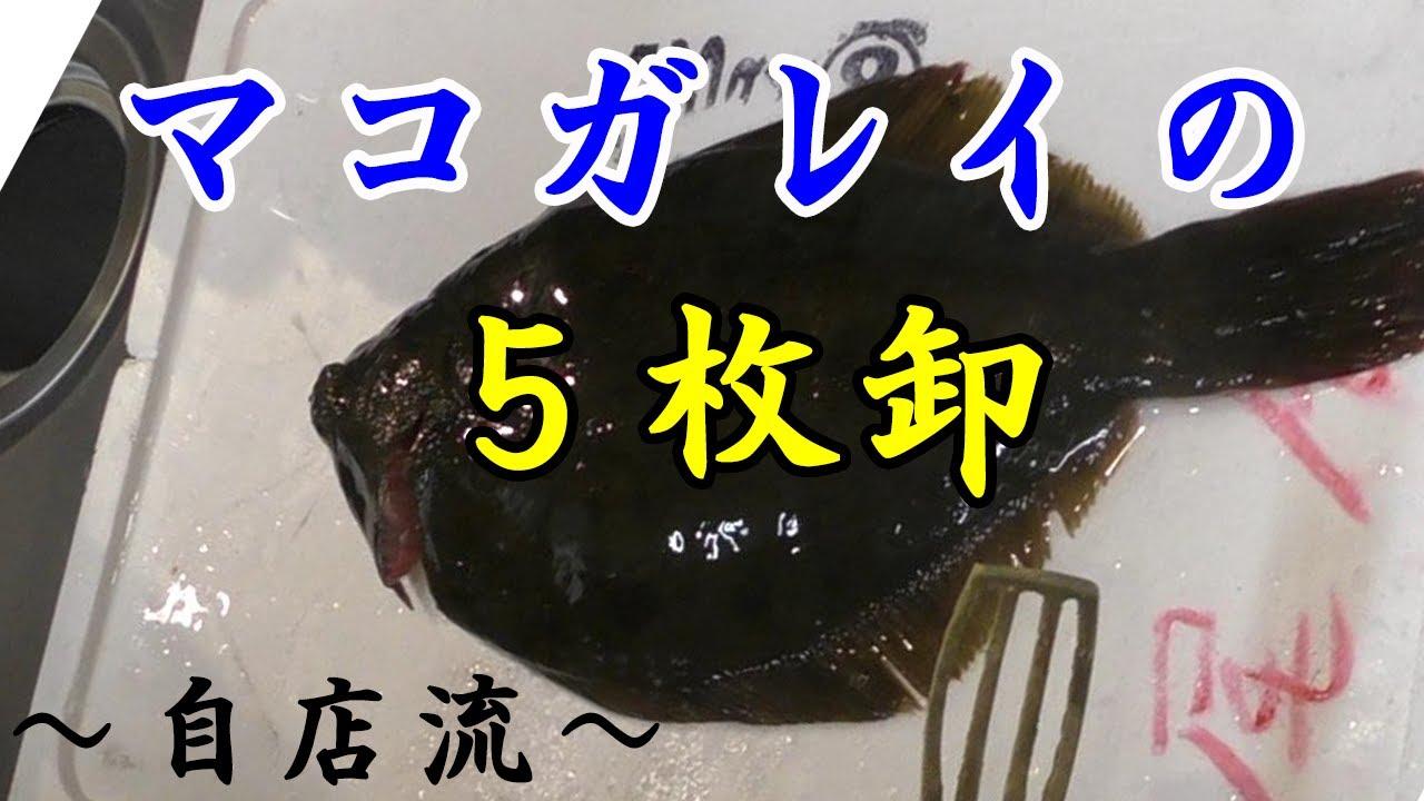(気持ちい5枚卸し)マコカレイのさばき方!!~自店流~