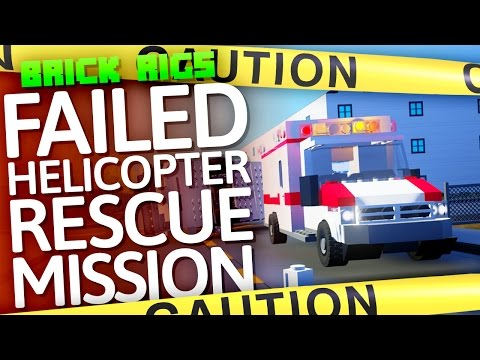 Brick Rigs | FAILED Helicopter Rescue Mission!