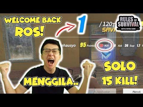 Savage! Rank 1! 15 Kill!  Mengamuk di Rules of Survival Indonesia! MASIH PRO GUYSS!