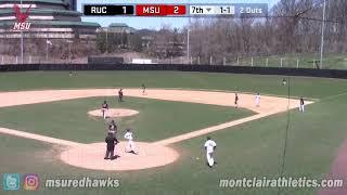 Montclair State Baseball Highlights vs. Rutgers-Camden - April 21, 2018