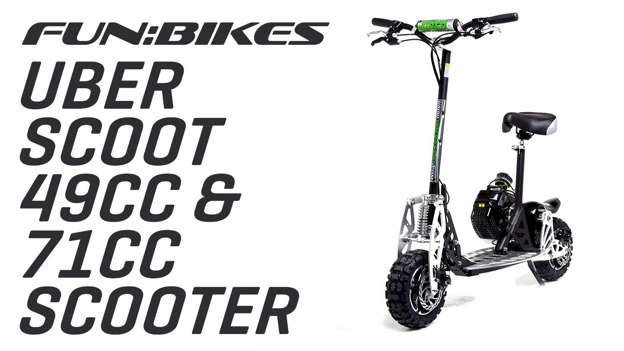 Product Overview Uber Scoot 2x 50cc And 71cc Petrol Scooter Big