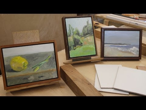 art lesson 16 a simple way to frame paintings on panel youtube. Black Bedroom Furniture Sets. Home Design Ideas