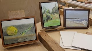 Art Lesson #16- A Simple Way to Frame Paintings on Panel