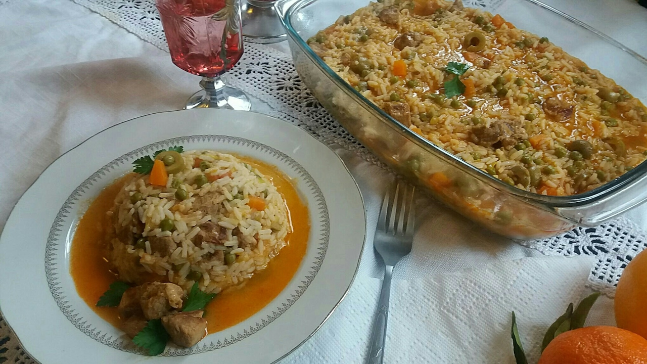 Riz au poulet a l 39 algerienne for Arte cuisine des terroirs