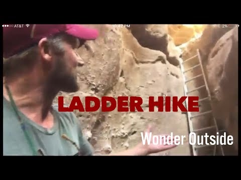 Ladder Hike, Painted Canyon, Mecca Wilderness