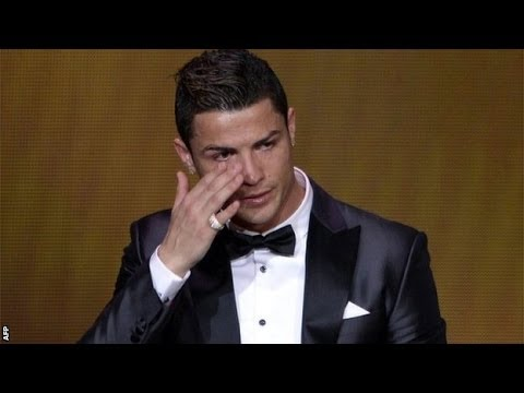 328d24225f5 Cristiano Ronaldo wins Ballon d Or award for player of the year - YouTube