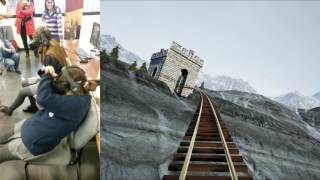 Funny reaction to virtual reality roller coaster by SimDesign