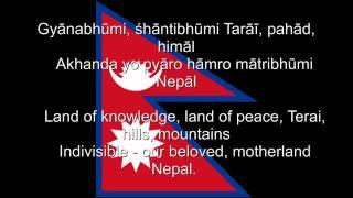Sayaun Thunga Phool Ka     Nepal National anthem Nepali  u0026 English lyrics