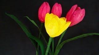كيفية جعل جميلة زهور الزنبق مع ورقة كريب | DIY: زهرة صنع الأفكار