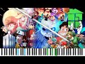 MegaLoVania FANDOM MEDLEY LyricWulf Piano Tutorial On Synthesia mp3