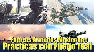 Fuerzas Armadas Mexicanas ; Prácticas con fuego real