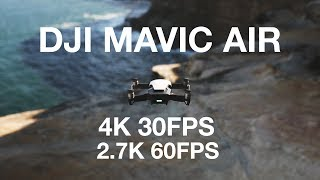DJI MAVIC AIR FOOTAGE 4K 2.7K 60FPS