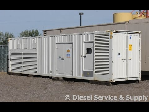 2000 kW Cummins Diesel Generator – 277/480 V,  Low-Hour Used 2 MW Genset #87092