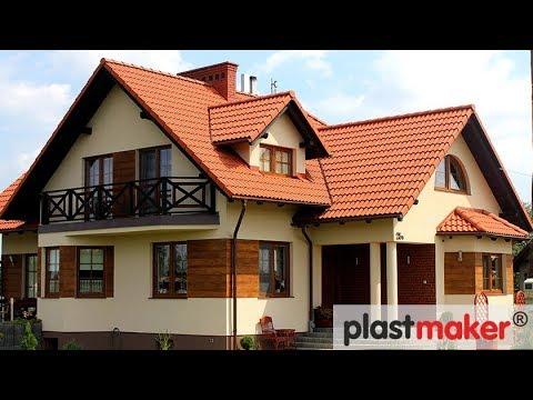 W Mega ładne elewacje domów drewniane drewnopodobne wstawki imitacja RY51