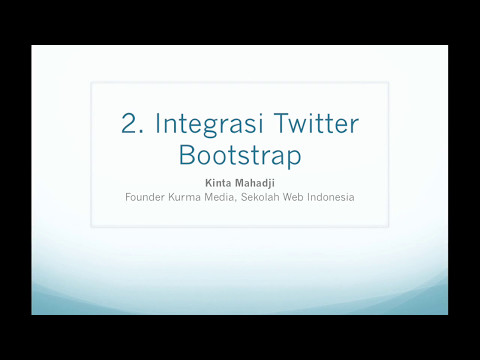 Cara Menggabungkan Codeigniter Dengan Bootstrap