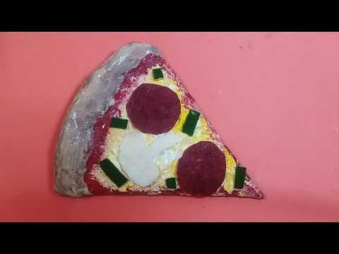 Paper Mache Pizza