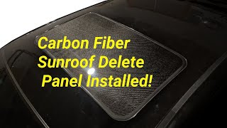 homepage tile video photo for S2R Tuning Carbon Fiber Sunroof Delete Panel Installed in the E46 M3!