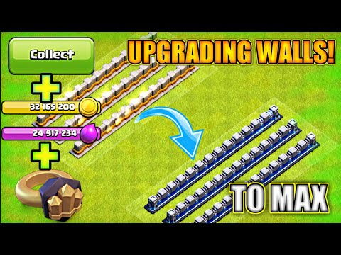 INSANE MAX LEVEL 12 WALLS UPGRADE😎 CLASH OF CLANS TIPS AND TRICKS   TOWNHALL 13 UPDATE COC