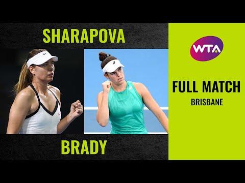 Maria Sharapova Vs. Jennifer Brady    Full Match   2020 Brisbane Round Of 32