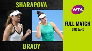 Maria Sharapova vs. Jennifer Brady  | Full Match | 2020 Brisbane Round of 32