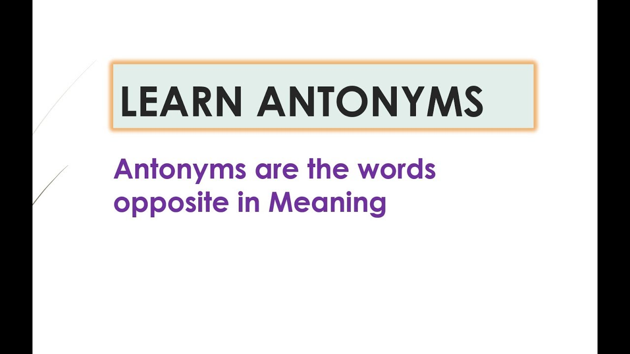 English Vocabulary Ielts Preparation Antonyms Opposite Words In