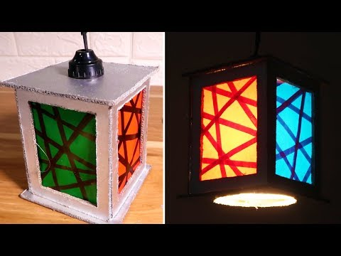 How to Make a Night Lamp / Paper Lantern From Cardboard
