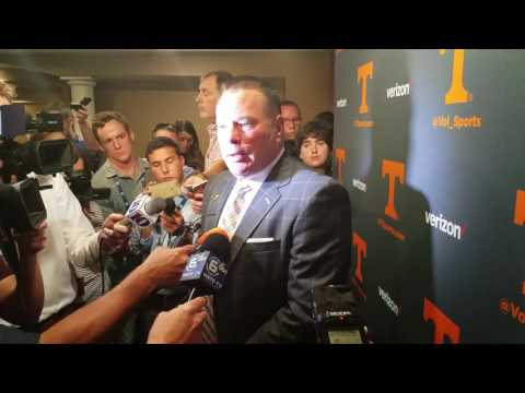 Butch Jones - Tennessee coach w/local media (SEC Media Days 2017)