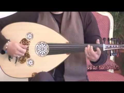 الدرس الثاني  من دروس تعليم الة العود للعازف المتميز غسان اليوسف