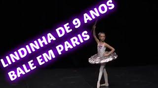 Menina de 9 anos dançando balé em paris