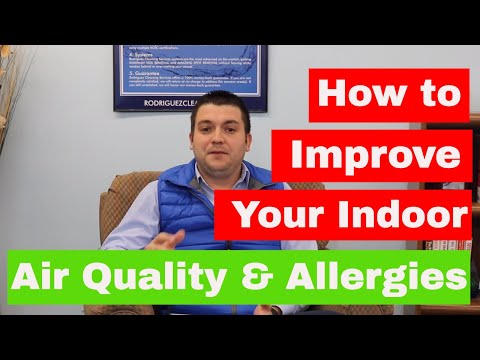 How to improve your indoor air quality and Reduce Allergies