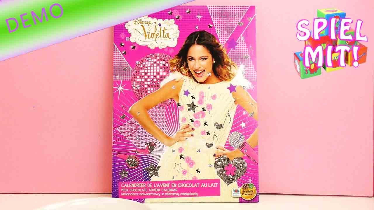 Weihnachtskalender Von Violetta.Violetta Adventskalender Der Kalender Für Violetta Fans Disney Adventskalender