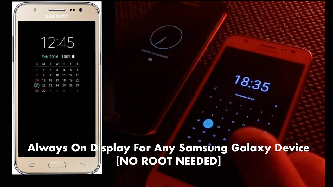 How To Download Always On Display For Samsung Galaxy J5/J7 [NO ROOT]