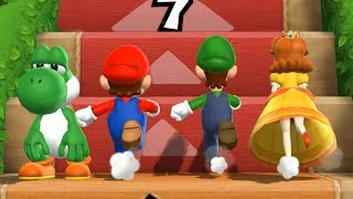 Mario Party 9 Step It Up - 1 vs. Rivals - Yoshi vs Team Mario, Luigi, Daisy| Cartoons Mee