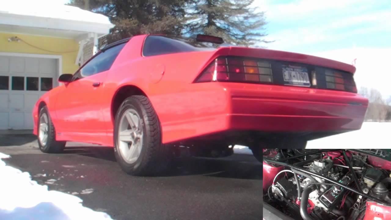 1986 Camaro True Duals Idle And Rev Youtube