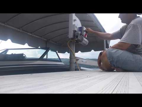 My new Lift Tech Marine 110v AC manual boat lift motor