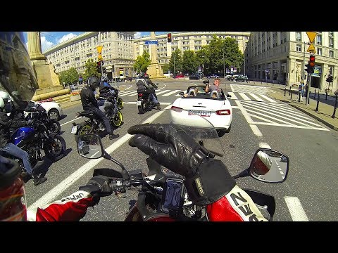 POLISH RIDER HARASSES GERMAN BIKERS (JUST A BIT!) - onboard V-Strom 1000 with TBR exhaust