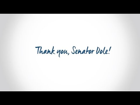 Thank You, Senator Elizabeth Dole!