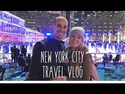 New York City Tavel Vlog: Bryant Park Ice Skating, TruHair, & CHURROS!