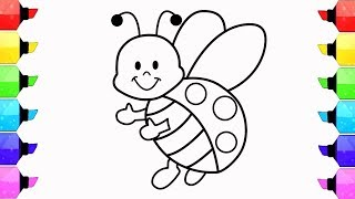 Drawing for Kids | How to Draw Ladybug | Coloring Pages for Kids