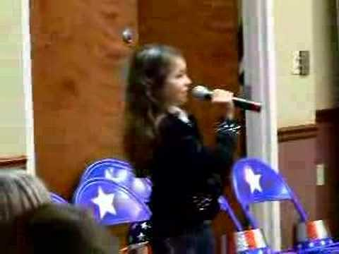 Anna 8years old singing the Auctioneer song