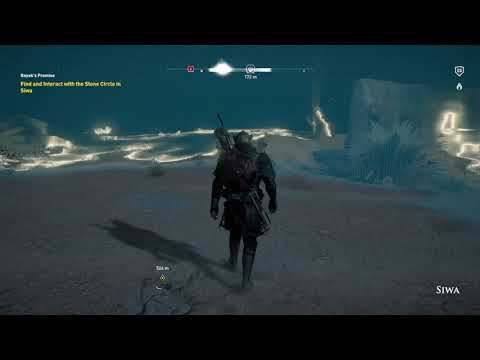 Assassin's Creed Origins Find and Interact with Stone Circle Siwa