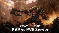 WoW Classic - PVP vs. PVE Server Deutsch/German