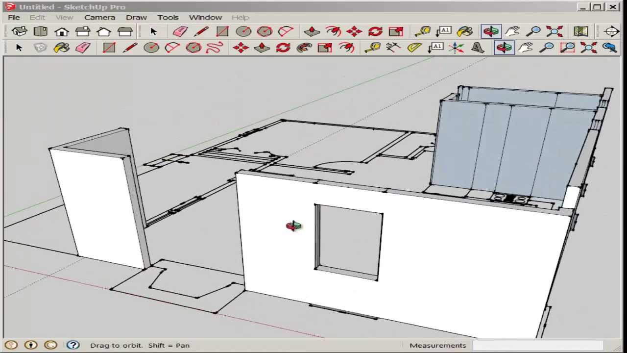 Sketchup import and model an autocad floor plan youtube for How to make a blueprint of a house