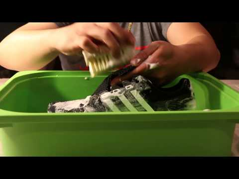 Cleaning adidas adios Boost with Jason Markk Shoe Cleaner