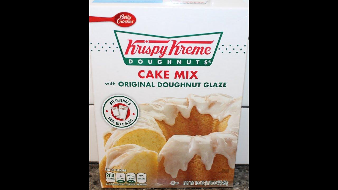 Making Betty Crocker Krispy Kreme Doughnuts Cake Mix YouTube