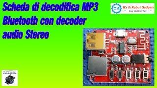 Scheda per decodifica MP3 Bluetooth con decoder audio Stereo da ICstation.com